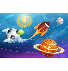 Sport universe background vector image vector image