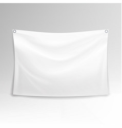 white banner realistic horizontal vector image