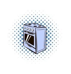 White oven comics icon vector image
