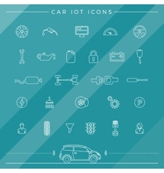 Internet of things for the car icons vector