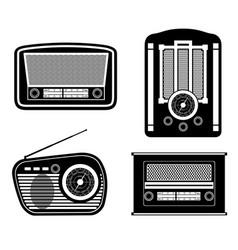 Radio old retro vintage icon stock vector