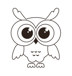 cute owl icon isolated on white vector image