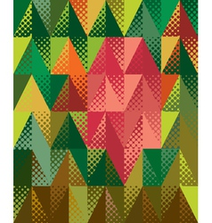 Colorful triangles vector image