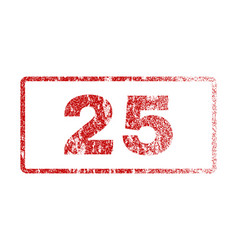 25 rubber stamp vector image vector image
