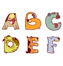 dogs alphabet vector image