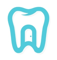 Tooth logo with the door at home dental vector