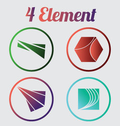 4 element logo vector