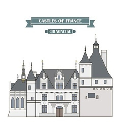 Chenonceau france vector