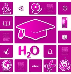 Education sticker infographic vector