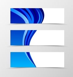 Set of banner design vector