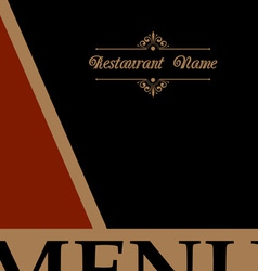 Restaurant menu design in retro style vector