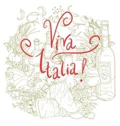 Italian cuisine menu vector