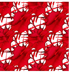Abstract seamless pattern with red watercolor vector