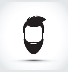 an icon of a face vector image vector image