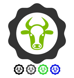 Beef certificate flat icon vector