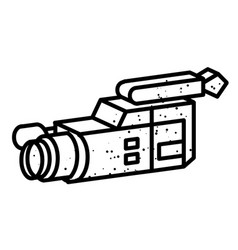 Cartoon image of video camera camera symbol vector