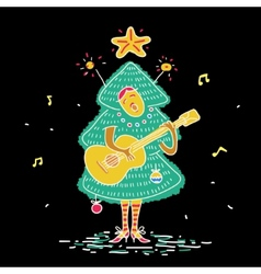 Christmas tree costume vector