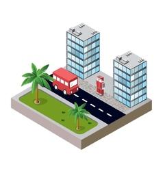 City block vector image vector image