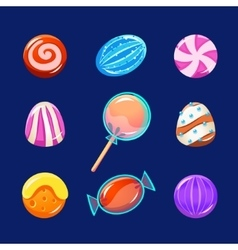 Colorful Glossy Candies with Sparkles vector image vector image