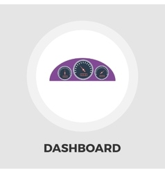 Dashboard flat icon vector image vector image