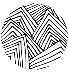 doodle circle 3 vector image vector image