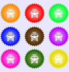 Fire engine icon sign big set of colorful diverse vector