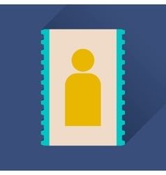 Flat icon with long shadow personal contact vector