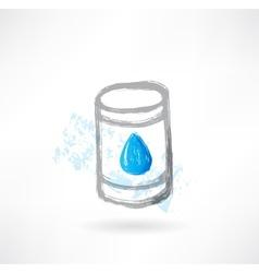 fuel grunge icon vector image vector image