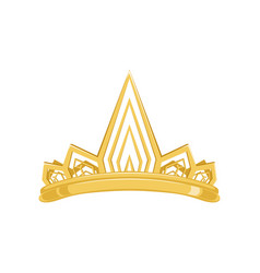 Golden ancient crown for king or monarch queen or vector