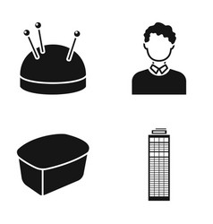 Hairdresser combine city and other web icon in vector
