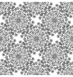 Hand drawing zentangle element Black and white vector image vector image