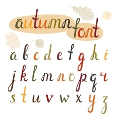 Hand-drawn autumn font vector