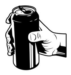 holding a can of cola vector image vector image
