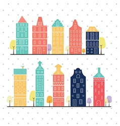 home sweet home amsterdam white background vector image