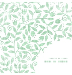 Leaves and swirls textile frame corner pattern vector
