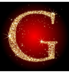 letter star g vector image vector image