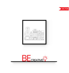 Poster frame mock up isolated on vector