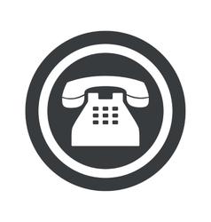 Round black phone sign vector