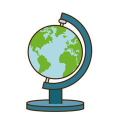 school globe atlas map geography vector image