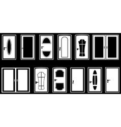 Set isolated doors vector