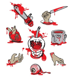 Set of horrors vector