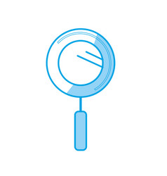 Silhouette magnifying glass instrument to vector