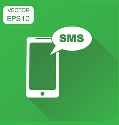 Smartphone with sms buble icon business concept vector