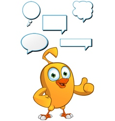 Cartoon Chick Speech Set vector image