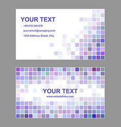 Purple colorful business card template design vector