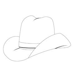 Cowboy hat vector image