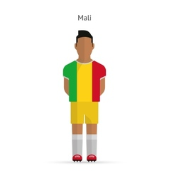 Mali football player soccer uniform vector