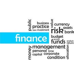 word cloud finance vector image