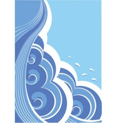 Abstract seascape vector