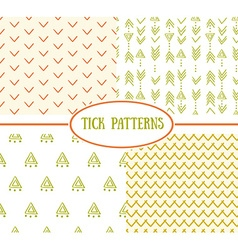 Set of tick seamless ethnic pattern it can be used vector